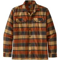 PATAGONIA M'S L/S FJORD FLANNEL SHIRT PLOTS BURNISHED RED 21