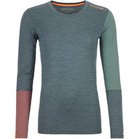BU TEXTILE ORTOVOX ORTOVOX 185 ROCK'N'WOOL LONG SLEEVE W GREEN FOREST BLEND 21 - Ekosport