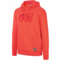 PICTURE BASEMENT FLOCK HOODIE RED 21