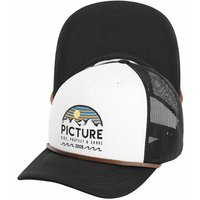 PICTURE KULDO TRUCKER CAP BLACK WHITE 21