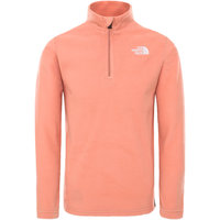 THE NORTH FACE Y GLACIER 1/4 ZIP PINK CLAY 21