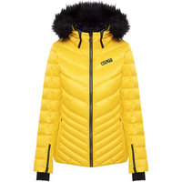 Boutique COLMAR COLMAR ANCOLIE LADIES SKI DOWN JACKET + ECO FUR JAUNE SUNFLOWER 21  - Ekosport