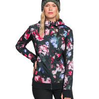 ROXY FROST PRINTED TRUE BLACK BLOOMING PARTY 21