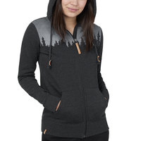 TENTREE W JUNIPER ZIP HOODIE METEORITE BLACK HEATHER 21