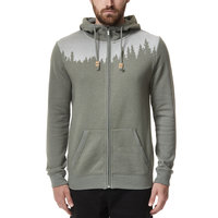 TENTREE M JUNIPER ZIP HOODIE VETIVER GREEN HEATHER 21