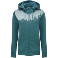 TENTREE W JUNIPER ZIP HOODIE DEEP TEAL HEATHER 21