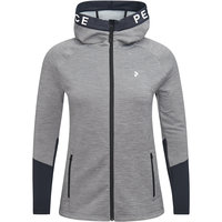 PEAK PERFORMANCE W RIDER MEL ZIP HOOD GREY MELANGE 21