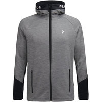 PEAK PERFORMANCE M RIDER MEL ZIP HOOD GREY MELANGE 21