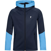 PEAK PERFORMANCE JR RIDER ZIP HOOD BLUE SHADOW 21