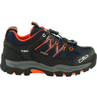 CMP KIDS RIGEL LOW TREKKING SHOE WP ID BLACK BLUE 21