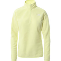 Boutique THE NORTH FACE THE NORTH FACE W 100 GLACIER 1/4 ZIP - EU PALE LIME YELLOW 21 - Ekosport