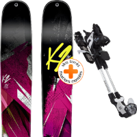 Pack ski+fix K2 K2 REMEDY 112 15 + SALOMON GUARDIAN 13 WTR BLK/WHI 14 SANS STOP-SKI - Ekosport