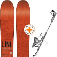 Pack ski+fix LINE LINE SUPERNATURAL 92 15 + SALOMON GUARDIAN 13 MNC BLK/WHI 15 - Ekosport