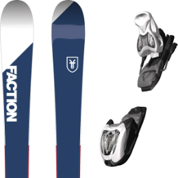Pack ski FACTION FACTION CANDIDE 1.0 JR (105-145) 18 + MARKER M 4.5 EPS WHITE/BLACK 17 - Ekosport