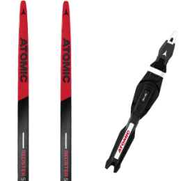 Pack ski ATOMIC ATOMIC REDSTER S9 CARBON UNI M/H RED 19 + ATOMIC SNS PILOT CARBON RS2 18 - Ekosport