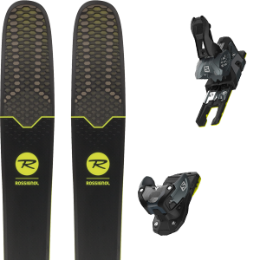 Pack ski+fix ROSSIGNOL ROSSIGNOL SOUL 7 HD 19 + SALOMON WARDEN MNC 13 N BLACK/GREY 19 - Ekosport