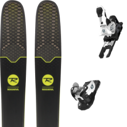 Pack ski+fix ROSSIGNOL ROSSIGNOL SOUL 7 HD 19 + SALOMON WARDEN MNC 13 N WHITE/BLACK 19 - Ekosport