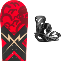 ROSSIGNOL CIRCUIT WIDE 19 + SALOMON RHYTHM BLACK 19