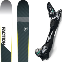 Pack ski+fix FACTION FACTION PRIME 2.0 19 + MARKER F10 TOUR BLACK/WHITE 20 - Ekosport