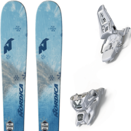 NORDICA ASTRAL 84 AQUA 19 + MARKER SQUIRE 11 ID WHITE 20