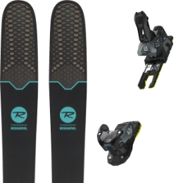 Pack ski+fix ROSSIGNOL ROSSIGNOL SOUL 7 HD W 19 + SALOMON WARDEN MNC 13 N BLACK/GREY 19 - Ekosport