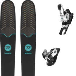 Pack ski+fix ROSSIGNOL ROSSIGNOL SOUL 7 HD W 19 + SALOMON WARDEN MNC 13 N WHITE/BLACK 19 - Ekosport