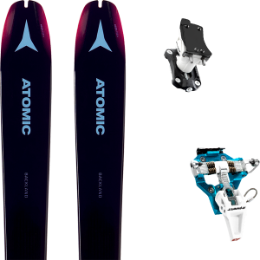 Pack ski+fix ATOMIC ATOMIC BACKLAND WMN 85 PURPLE/PINK 19 + DYNAFIT SPEED TURN 2.0 BLUE/BLACK 19 - Ekosport