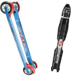 Nouveautés SS18 KV+ KV+ LAUNCH SKATE CURVED 60CM SLOW WHEELS 18 + SALOMON PROLINK ACCESS SK 20 - Ekosport