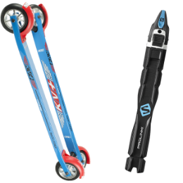 Pack ski KV+ KV+ LAUNCH SKATE CURVED 60CM SLOW WHEELS 18 + SALOMON PROLINK RACE SKATE 20 - Ekosport