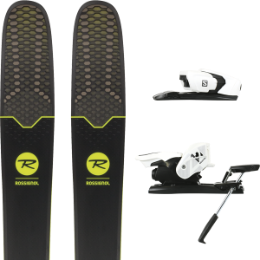 Pack ski+fix ROSSIGNOL ROSSIGNOL SOUL 7 HD 19 + SALOMON Z12 B90 WHITE/BLACK 19 - Ekosport