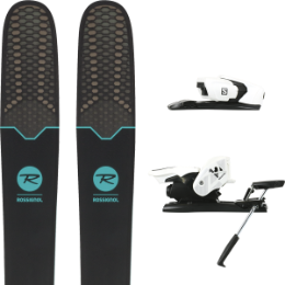Pack ski+fix ROSSIGNOL ROSSIGNOL SOUL 7 HD W 19 + SALOMON Z12 B90 WHITE/BLACK 19 - Ekosport