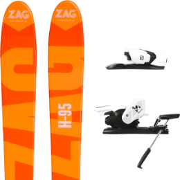ZAG H95 19 + SALOMON Z12 B90 WHITE/BLACK 19