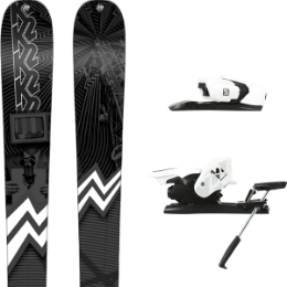 K2 PRESS 19 + SALOMON Z12 B90 WHITE/BLACK 19