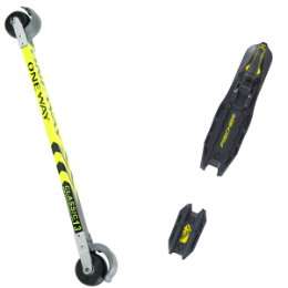 ONE WAY CLASSIC 13 CARBON 15 + FISCHER ROLLERSKI CLASSIC BLACK YELLOW 19