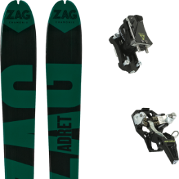 Pack ski+fix ZAG ZAG ADRET 81 20 + FISCHER TOUR SPEED TURN W/O BRAKE 19 - Ekosport