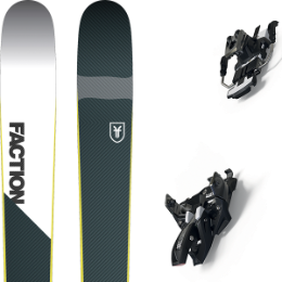Pack ski+fix FACTION FACTION PRIME 2.0 19 + MARKER ALPINIST 12 LONG TRAVEL 105MM BLACK/TITANIUM 20 - Ekosport