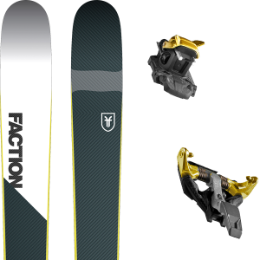 Pack ski FACTION FACTION PRIME 2.0 19 + DYNAFIT TLT SPEEDFIT 10 ALU YELLOW/BLACK 21 - Ekosport