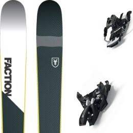 Pack ski+fix FACTION FACTION PRIME 2.0 19 + MARKER ALPINIST 9 LONG TRAVEL 105MM BLACK/TITANIUM 20 - Ekosport
