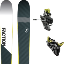 Pack ski+fix FACTION FACTION PRIME 2.0 19 + DYNAFIT ST RADICAL 10 100MM YELLOW 19 - Ekosport