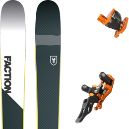 Pack ski+fix FACTION FACTION PRIME 2.0 19 + PLUM GUIDE 12 ORANGE 20 - Ekosport
