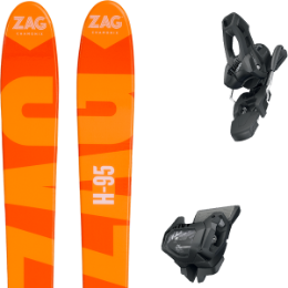 ZAG H95 19 + TYROLIA ATTACK² 11 GW W/O BRAKE [L] SOLID BLACK 20