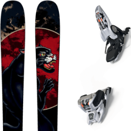 ROSSIGNOL BLACK OPS 98 20 + MARKER GRIFFON 13 ID WHITE 19
