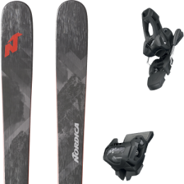 NORDICA ENFORCER 88 BLACK/RED 20 - UNI + TYROLIA ATTACK² 11 GW W/O BRAKE [L] SOLID BLACK 20