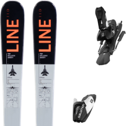 LINE TOM WALLISCH SHORTY 20 + SALOMON L7 N B90 BLACK/WHITE 19