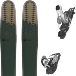 ROSSIGNOL SUPER 7 HD 20 + SALOMON WARDEN 11 N SILVER/BLACK L100 19