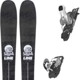 LINE SICK DAY 88 20 + SALOMON WARDEN 11 N SILVER/BLACK L100 19