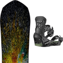 LIB TECH TRAVIS RICE GOLDMEMBER FP C2X 20 - UNI + SALOMON HIGHLANDER BLACK / OIL GREEN 20