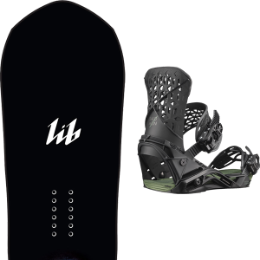 LIB TECH T RAS C2 20 - UNI + SALOMON HIGHLANDER BLACK / OIL GREEN 20
