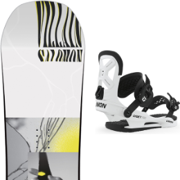 SALOMON THE VILLAIN GROM 20 + UNION YTH CADET PRO WHITE 20