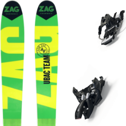 ZAG UBAC TEAM 21 + MARKER ALPINIST 9 LONG TRAVEL 90MM BLACK/TITANIUM 21